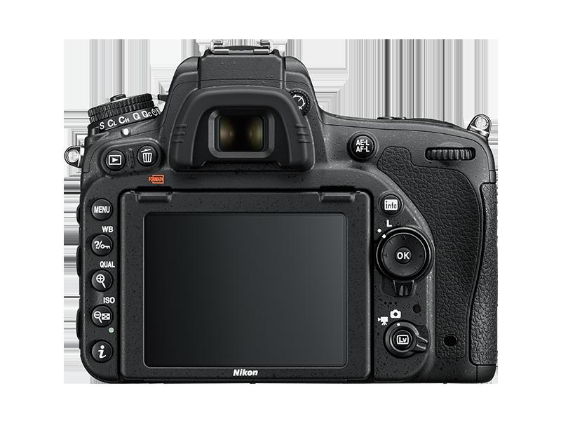 Nikon D750 Arka tus dizilimi
