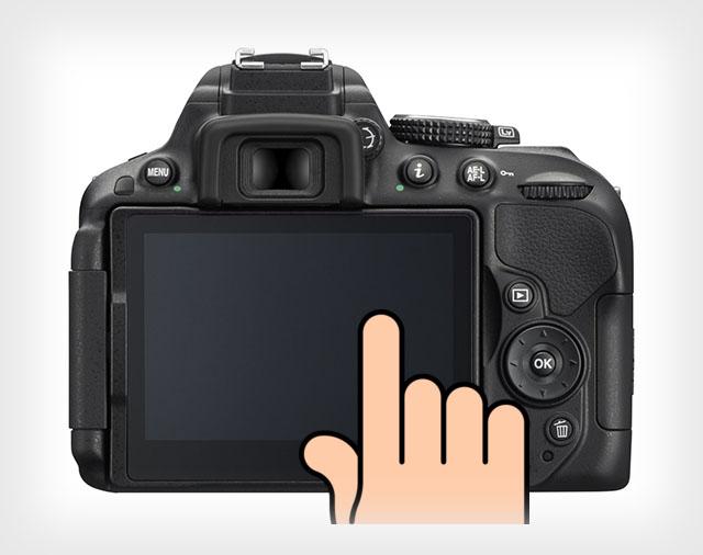 Nikon D5500 dokunmatik ekran